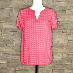 Tom Tailor red and white blouse
